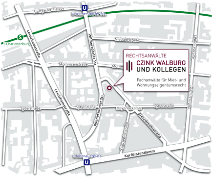 Map Berlin by Czink Walburg Danschke Lawyers